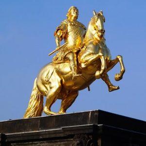 Betriebsausflug zum goldenen Reiter